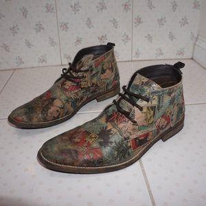 c2a8fd32a1e121 Steve Madden Shoes - Men s Comic Book Design Boots
